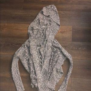 Abercrombie cardigan with hood